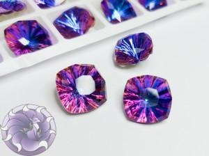 Кристалл квадрат Millennium Стекло 14мм К9 Цвет Violet Blue