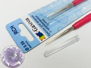 Крючок Gamma с резиновой ручкой сталь 0,5 мм 13 см в блистере
