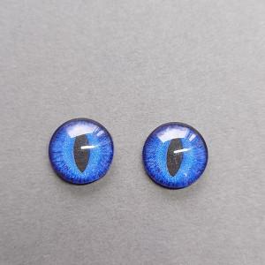Кабошон стекло глазки №99 10мм, 12мм пара