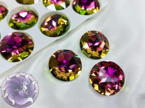 Кристалл стекло круглый 27мм К9 Цвет Vitrail Rose