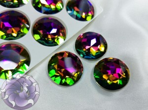 Кристалл стекло круглый 27мм К9 Цвет Vitral Medium