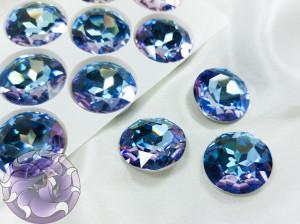 Кристалл стекло круглый 27мм К9 Цвет Vitrail Light