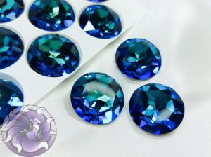 Кристалл стекло круглый 27мм К9 Цвет Bermuda Blue