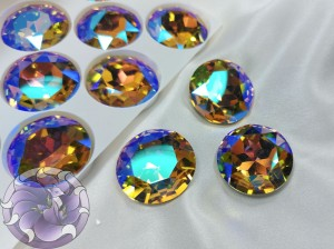 Кристалл стекло круглый 27мм К9 Цвет Paradise Shine
