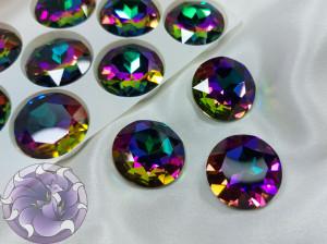 Кристалл стекло круглый 27мм К9 Цвет Volcano