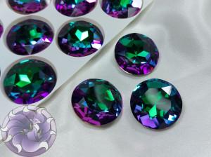 Кристалл стекло круглый 27мм К9 Цвет Heliotrope