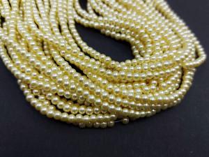 140 шт Перлини синтетичні скло 3мм, колір Ваніль 127