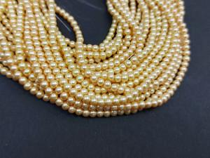 140 шт Перлини синтетичні скло 3мм, колір Карамель 130