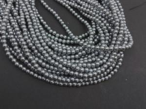 140 шт Перлини синтетичні скло 3мм, колір Сірий 133