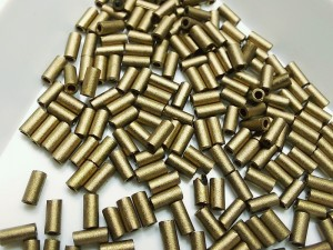 Стеклярус 3мм Miyuki Bugle Bead 5г Цвет MATTE METALLIC DK BRONZE
