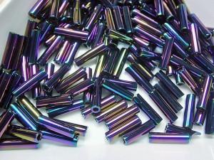 Стеклярус 6мм Miyuki Bugle Bead 5г Цвет PURPLE IRIS