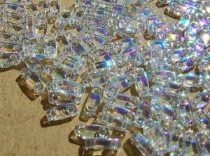 QTL-250 Бисер Miyuki Quarter Tila цвет Crystal AB 5 грам