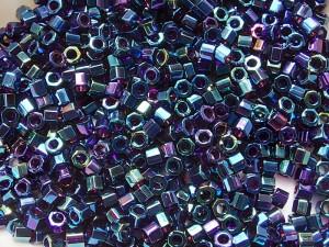Бисер шестигранник 5г Miyuki Nex Cut 11/0 Цвет BLUE IRIS