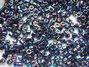 Бисер шестигранник 5г Miyuki Nex Cut 11/0 Цвет Variegated Blue Iris