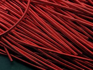Канитель мягкая гладкая 1мм матовая цвет Красная 5g