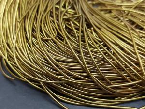 Канитель гладкая 1 мм цвет Золотистая бронза 5g