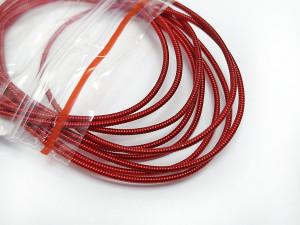Канитель жесткая 1мм цвет красная