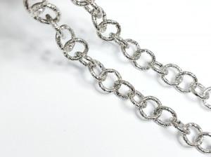 Цепь сталь крупная круглые с теснением звенья 11мм, цена за10см