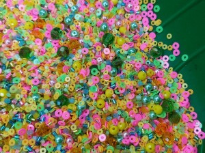 Мульти микс материалов 5г Цвет неоновый микс
