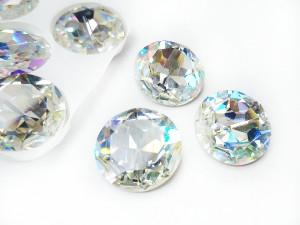 Кристалл стекло круглый 27мм К9 Цвет Laser Shine