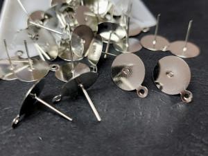 Швензы гвоздики основа круг с петелькой 12мм, сталь
