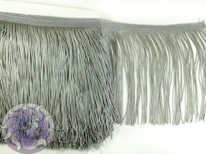 Тесьма бахрома 15см Серый