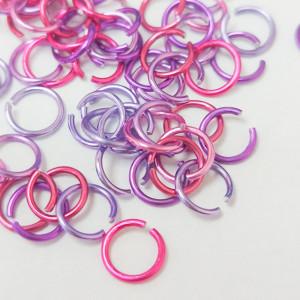 Соединительные кольца 6мм, 1,5г упаковка Микс Фиолетовый