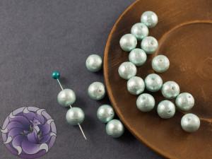Хлопковый жемчуг Cotton Pearls 8mm Aqua Japan