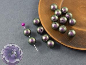 Хлопковый жемчуг Cotton Pearls 8mm Green Black Japan