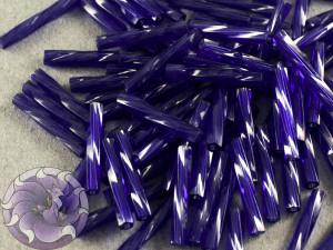 Стеклярус витой 2*12мм Miyuki Dyed Transparent Dark Cobalt