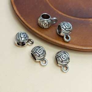 Бейл для украшений 12х7х8 цвет Серебро