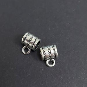 Бейл для украшений 11х8х6 цвет Серебро