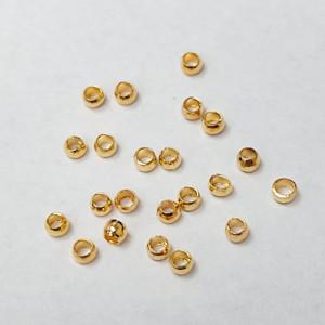 Бусина- стоппер, зажимная бусина кримп. 2мм, цвет золото