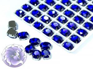 Кристалл в серебряной оправе Овал 10x8мм Сапфир
