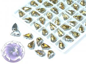 Кристалл в серебряной оправе Капля 10x6мм Silk