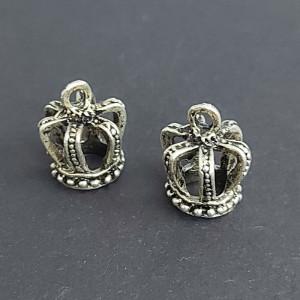 Концевик для шнуров, жгута и кистей 12*15мм цвет Чернёное серебро