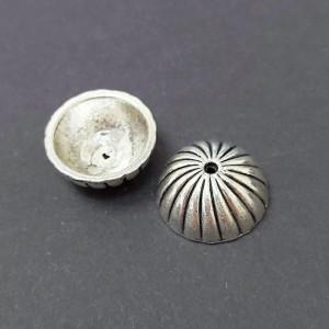 Концевик для шнуров, жгута и кистей 8*18мм цвет Черненое серебро