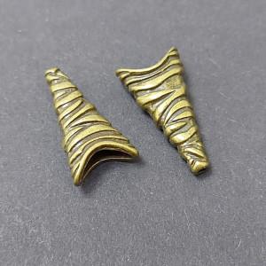 Концевик для шнуров, жгута и кистей плоский 12*24мм цвет Бронза