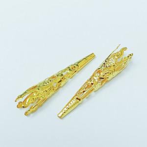 Концевик для шнуров, жгута и кистей 8х42мм цвет Золото