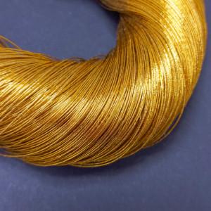 Нитки металлизированные для вышивки индийские 10 м, оранжевое золото