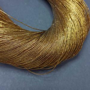 Нитки металлизированные для вышивки индийские 10 м, темная бронза