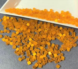 Бисер рубка 10/0 Preciosa сатиновый 5г, Оранжевый