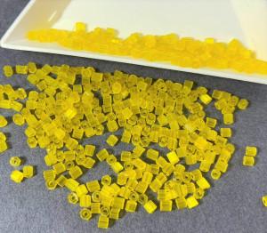 Бисер рубка 10/0 Preciosa сатиновый 5г, Желтый