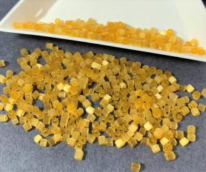 Бисер рубка 10/0 Preciosa сатиновый 5г, Горчица