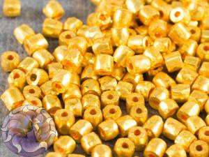 Бисер богемский Preciosa 3 cut 9/0 Opaque Gold Premium