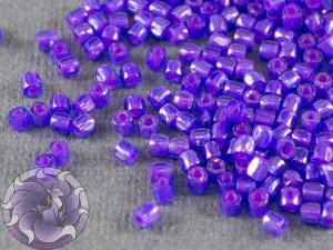 Бисер богемский Preciosa 3 cut 9/0 Transparent Sapphire Pink Lined Rainbow