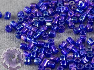 Бисер богемский Preciosa 3 cut 9/0 Transparent Navy Blue Iris