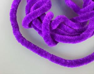 Синель круглая Турция Полиэстр 5мм Фиолетовый
