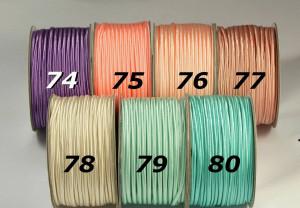 Сутажный шнур Европа глянцевый 3мм цвета №74-80