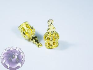 Концевик для шнуров, жгута и кистей 9х19мм цвет Золото